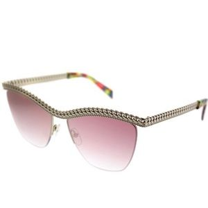 Moschino | Gold Tone Butterfly Sunglasses